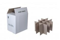 Κυψέλη για χαρτοκιβώτιο λευκό 3-φυλλο, για 12 φιάλες 700ml ή 750ml