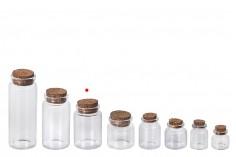 Γυάλινο μπουκαλάκι ευρύστομο με κωνικό φελλό 47x70, 80ml