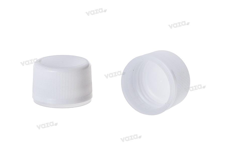Λευκό πλαστικό πώμα με ασφάλεια PP28