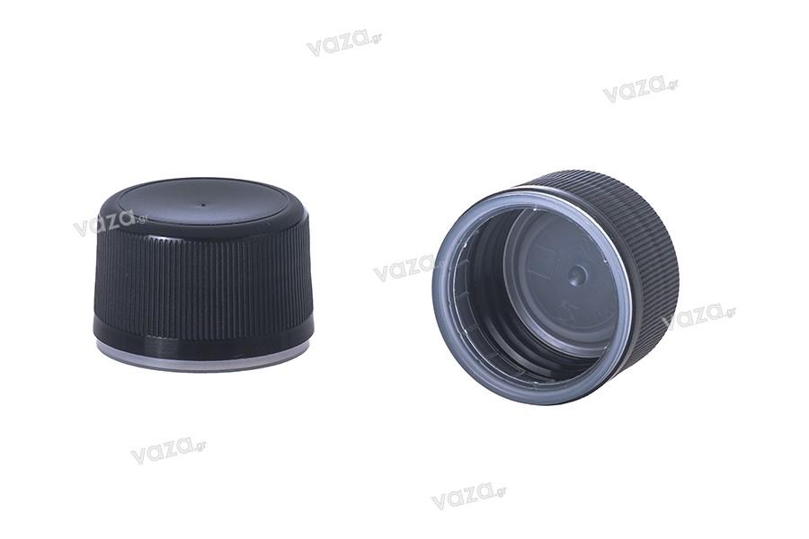 Μαύρο πλαστικό πώμα με ασφάλεια PP28
