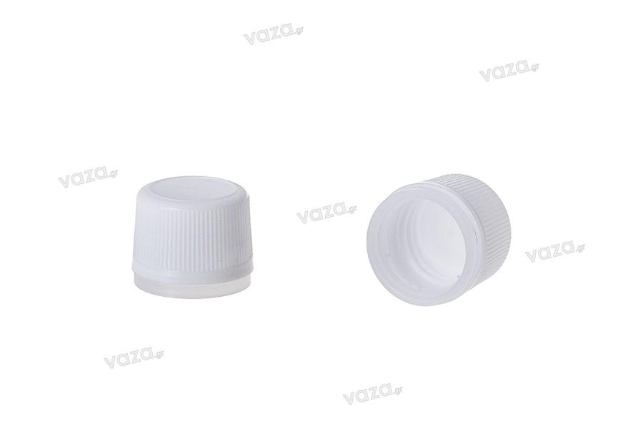 Λευκό πλαστικό πώμα με ασφάλεια  PP18