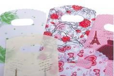 """Σακούλα πλαστική """"χούφτα"""" με καμπύλες στο πάνω μέρος 9x15cm, σε διάφορα σχέδια - 50 τμχ"""