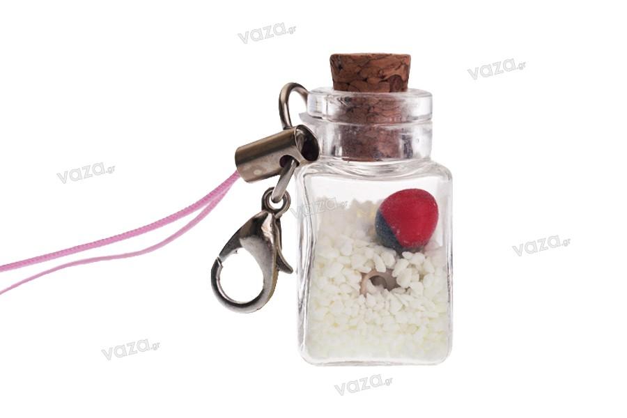 Διακοσμητικό με γαντζάκι φωσφορούχο για μπομπονιέρες - κλειδιά - κινητό