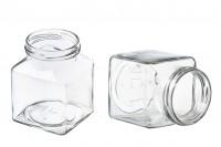 Τετράγωνο βάζο μαρμελάδας 314 ml T.O 63