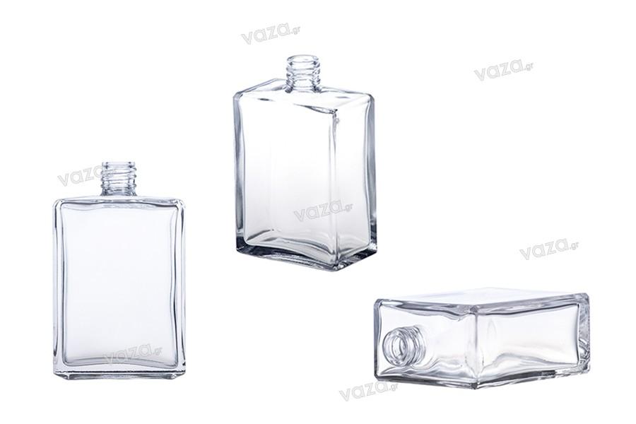 Ορθογώνια πλακέ φιάλη αρωματοποιίας 100 ml (18/415)