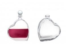 Bouteille de 100 ml en forme de coeur pour le mariage ou baptême