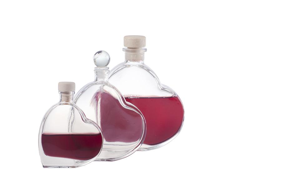 Μπουκαλάκι σε σχήμα καρδιάς 100 ml