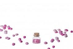 Μπομπονιέρα μπουκαλάκι μικρό 10 ml με φελλό για γάμο και βάπτιση 30x35 mm - 12 τμχ