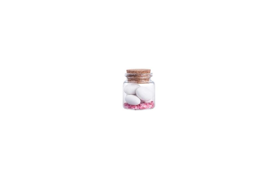 Γυάλινο μπουκαλάκι ευρύστομο με κωνικό φελλό 47x50, 50ml