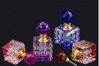 Bouteille en cristal de 8 ml avec couvercle en verre et les aiguilles en 4 couleurs