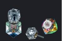 Bouteille en cristal de 5ml avec couvercle en cristal et aiguille