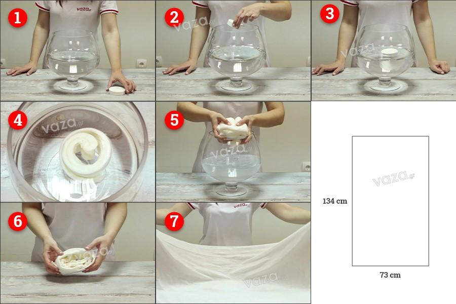 Μαγική πετσέτα μεγάλων διαστάσεων συμπιεσμένη για μπάνιο-παραλία