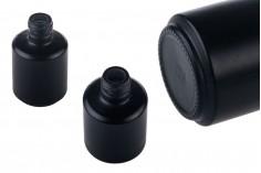 Μπουκάλι γυάλινο στρογγυλό 15 ml μαύρο ΜΑΤ