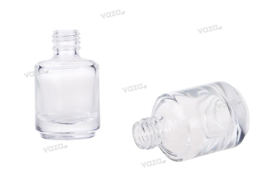 Μπουκάλι γυάλινο στρογγυλό 15 ml διάφανο