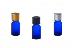 Flacon en verre pour huiles essentielles 10 ml bleu avec orifice PP18
