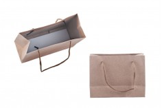 Τσάντα δώρου χάρτινη κραφτ - κορδόνι 3 mm με ωραία υφή στην απόχρωση της τσάντας 144x60x110