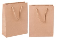 Sac cadeau en papier brun 190 x 80 x 240 mm