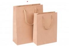 Τσάντα δώρου χάρτινη καφέ 190x80x240 mm