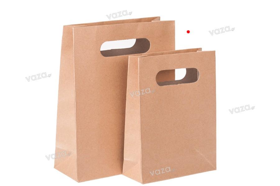Τσάντα δώρου χάρτινη καφέ 150x60x200 mm