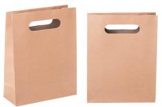 Τσάντα δώρου χάρτινη σε χρώμα καφέ 190x80x240 mm