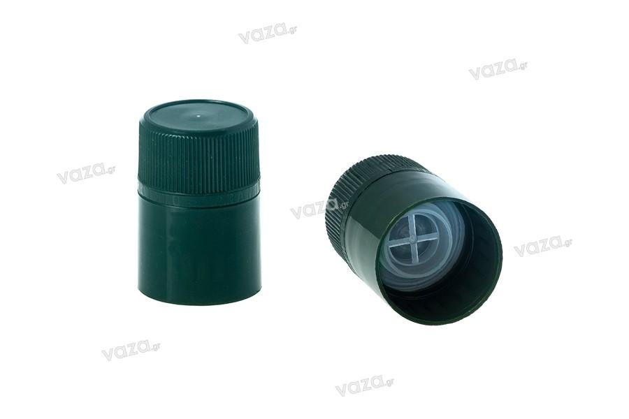 Guala πώμα ασφαλείας πλαστικό με μπίλια ροής - μιας χρήσης - για μπουκάλια με αντίστοιχο λαιμό