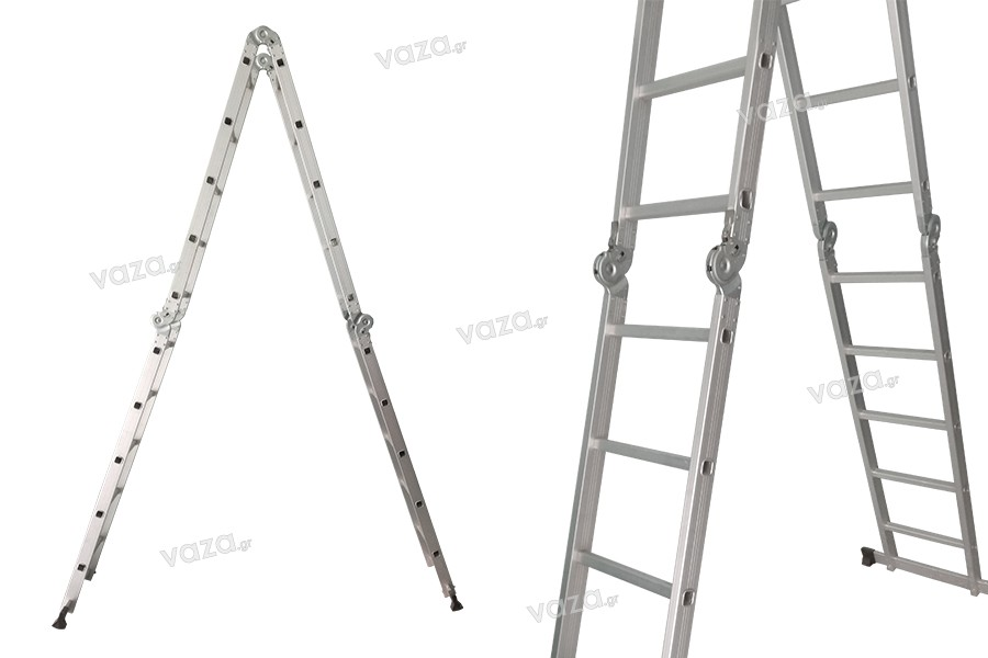 Ladders : Aluminum folding ladder multipurpose 5.7 m