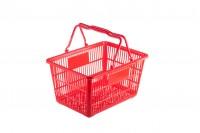 Panier en plastique main 45 x 32 x 23 cm rouge
