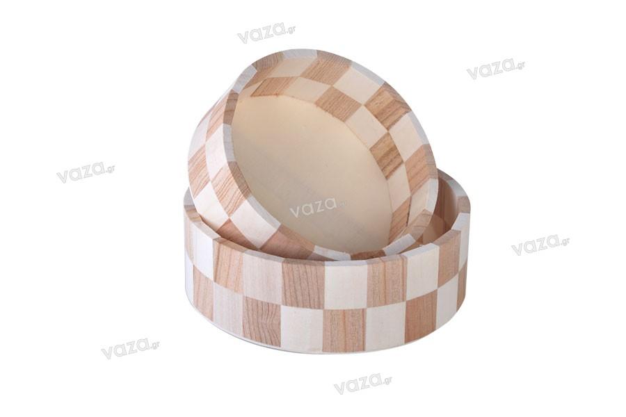 Καλάθι ξύλινο στρογγυλό 168x60 mm