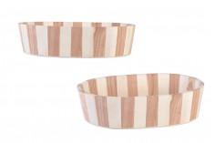 Καλάθι ξύλινο 258x188x65 mm