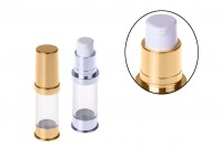 Airless tube for 5 ml cream gold/silver