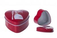 Boîte en aluminium en forme de cœur pour mariage