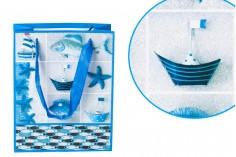 Τσάντα δώρου με σατέν χερούλι πλαστικοποιημένη 170 x 85 x 210  mm
