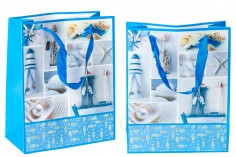 Τσάντα δώρου με σατέν χερούλι πλαστικοποιημένη 210x100x260 mm