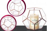 Porte bougie en verre décoratif
