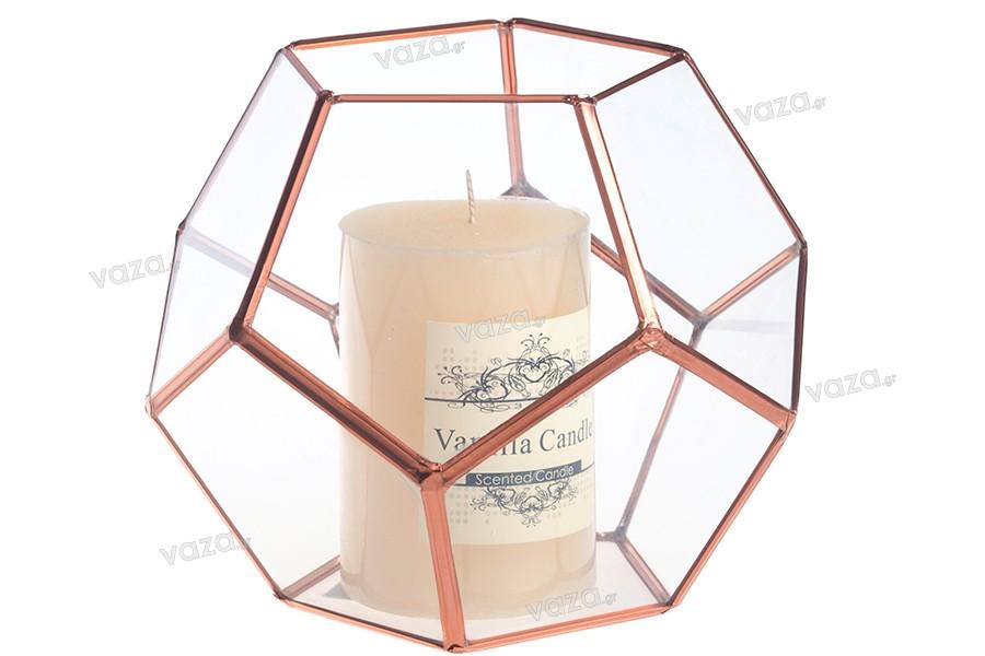 Γυάλινο διακοσμητικό για κερί