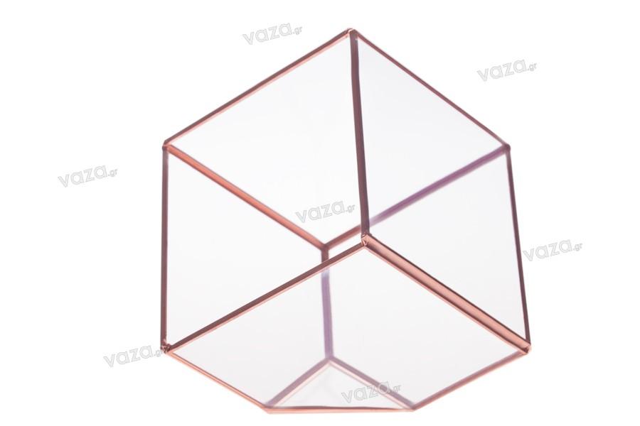 Διακοσμητικό για κερί γυάλινο τετράγωνο