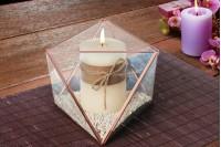Διακοσμητικό γυάλινο για κερί