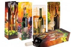 Σακούλες συσκευασίας χάρτινες για φιάλες κρασιού