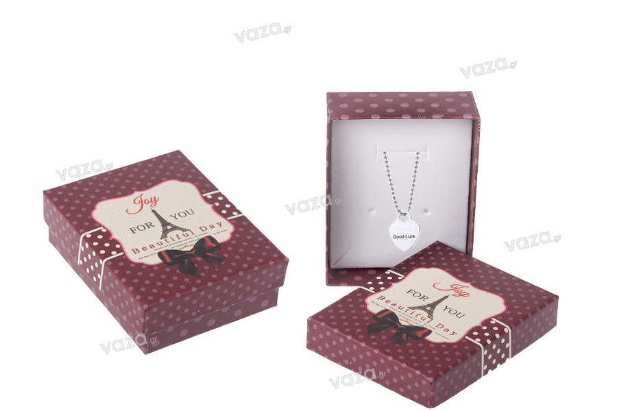 Κουτάκι συσκευασίας χάρτινο Άιφελ για κοσμήματα - σετ 12 τεμαχίων (Small)