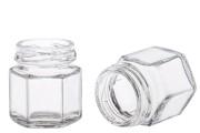 Γυάλινο εξάγωνο βαζάκι 30 ml
