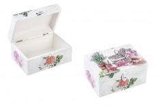 Κουτί ξύλινο με μεταλλικό κλιπς medium - decoupage