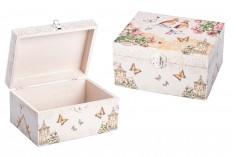 Κουτί ξύλινο με μεταλλικό κλιπς large - decoupage