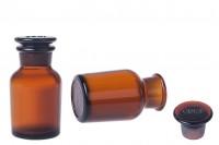 Μπουκάλι φαρμακείου καραμελέ με γυάλινο καπάκι 60 ml