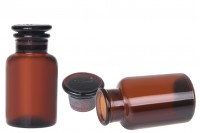 Flacon de pharmacie ambré avec bouchon en verre 125 ml