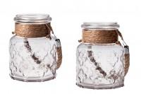 Βάζο διακόσμησης γυάλινο 2000 ml με χερούλι χωρίς καπάκι 110x180 mm