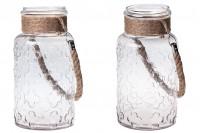 Bocal en verre décoratif 4000 ml avec poignée sans couvercle 110 x 310 mm
