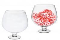 Bol en verre décoratif avec support rond