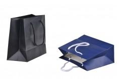 Τσάντα δώρου χάρτινη με στρογγυλό βαμβακερό χερούλι σε 2 χρώματα - 220x95x180