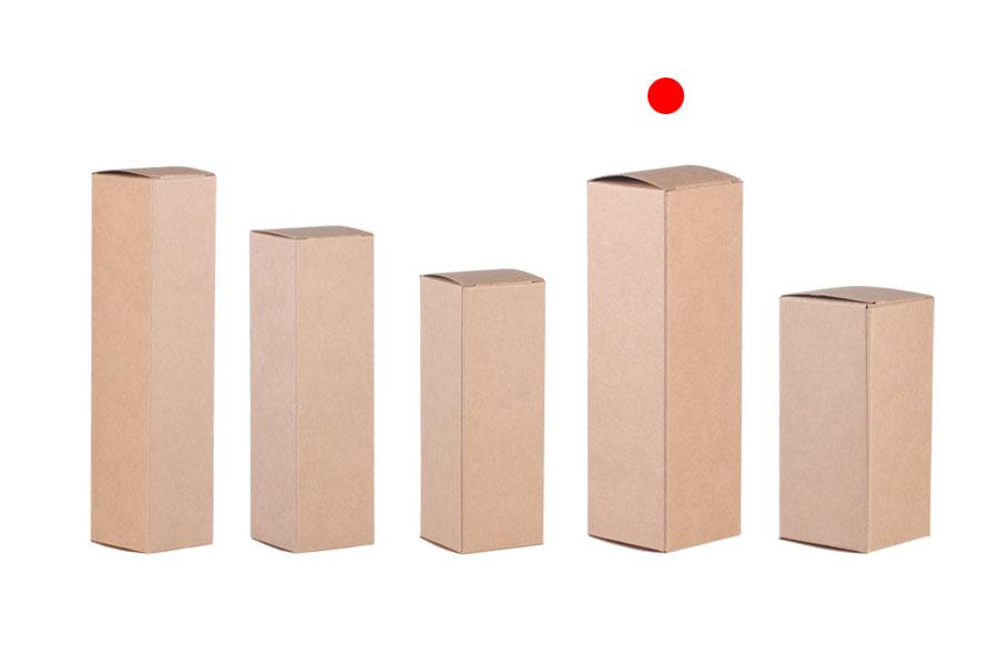 Κουτάκι χάρτινο κραφτ οικολογικό 47x47x145 - 20 τμχ