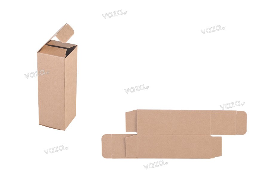 Κουτάκι χάρτινο κραφτ οικολογικό 38x38x110 - 20 τμχ